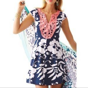 Lilly Pulitzer Briella Fit and Flare Dress Navy